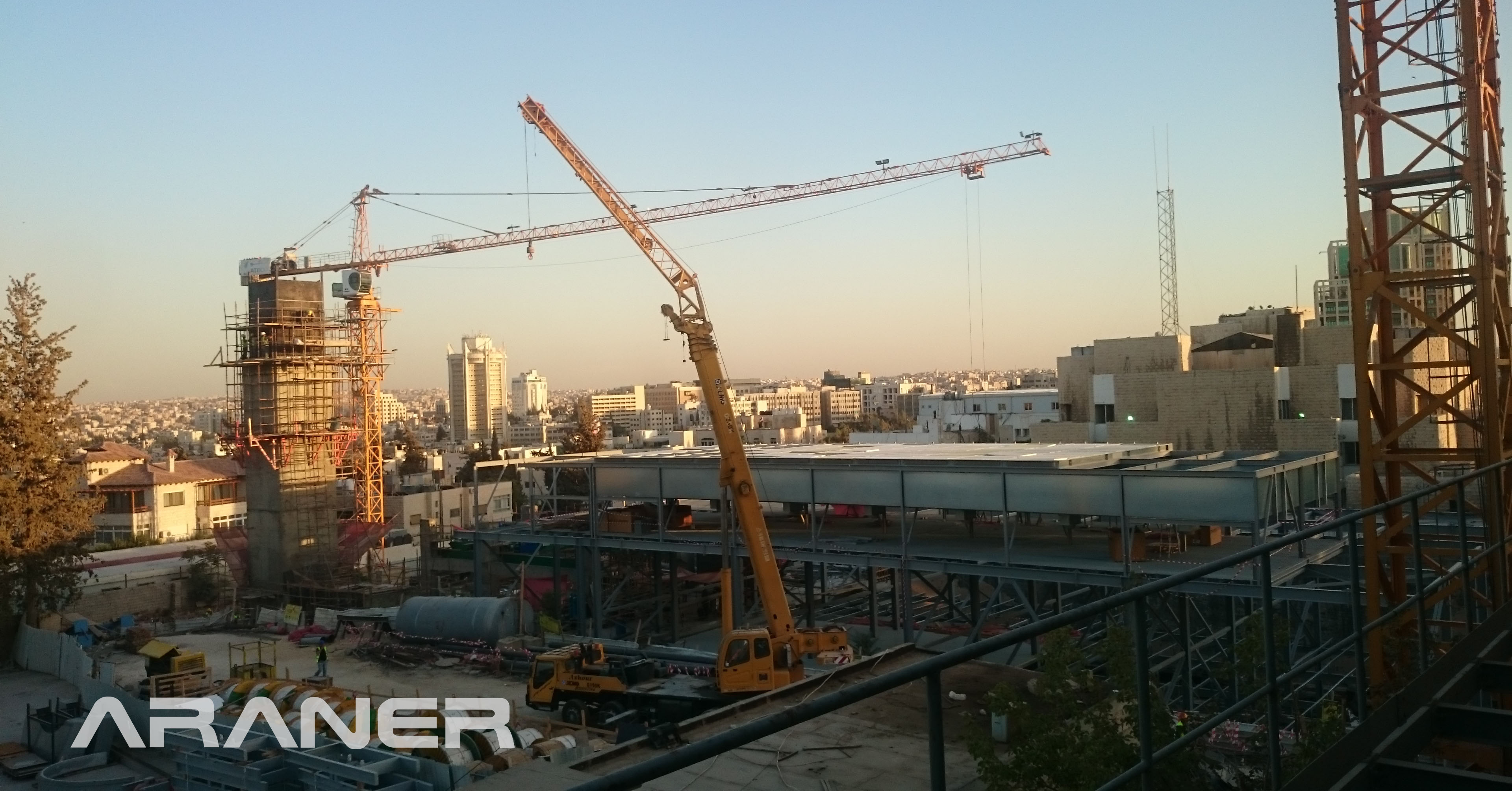 ARANER construction on a District Cooling project